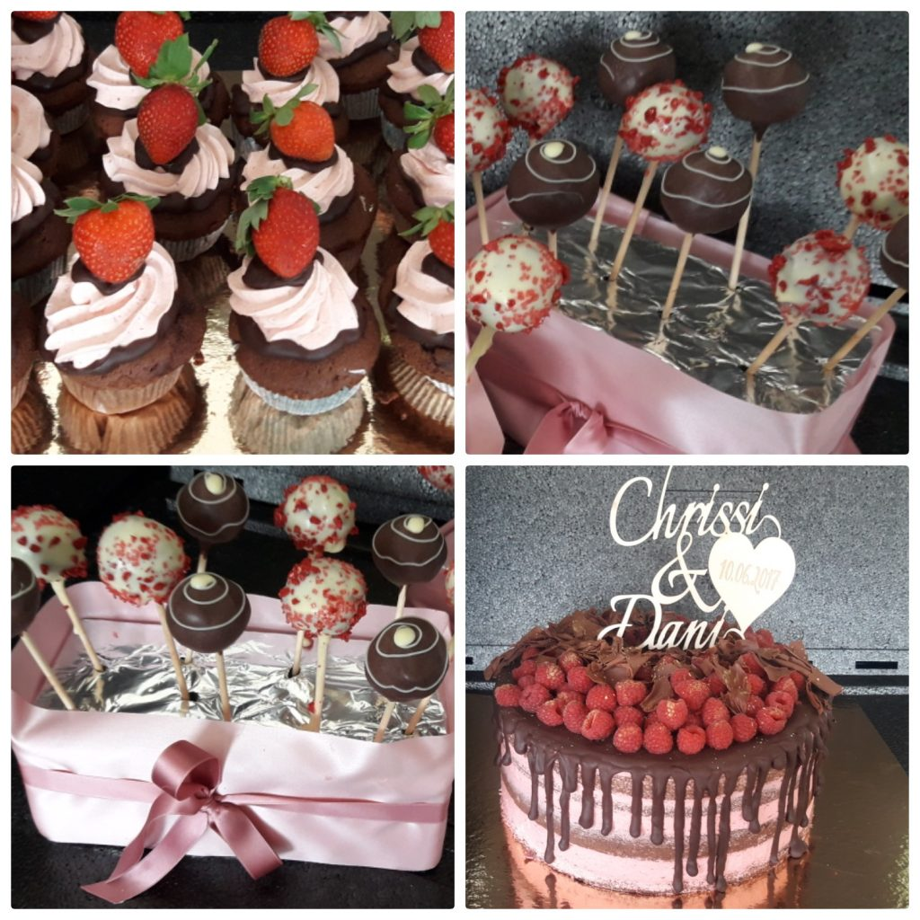 Hochzeitstorte Mit Cake Pops Und Cup Cakes La Pralina