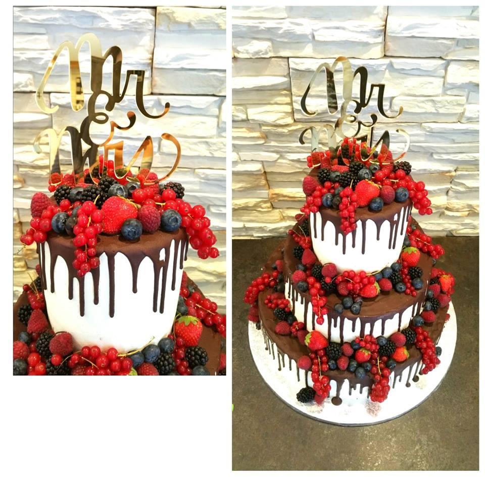 Dörtes nackige Hochzeitstorte - The Wedding Naked Cake